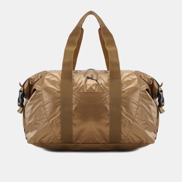 041a09450b0 Shop Gold PUMA Fit at Workout Bag for Womens by PUMA | SSS