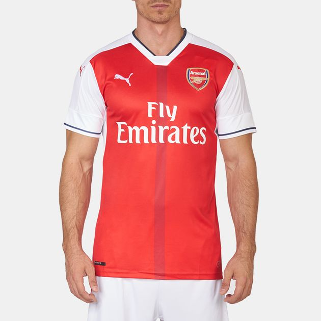 best service b942c 87d23 Shop Red PUMA Arsenal FC Home Replica Jersey for Mens by ...