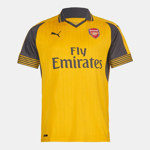 best loved f978a affd9 Shop Yellow PUMA Arsenal FC Away Replica Jersey for Mens by ...