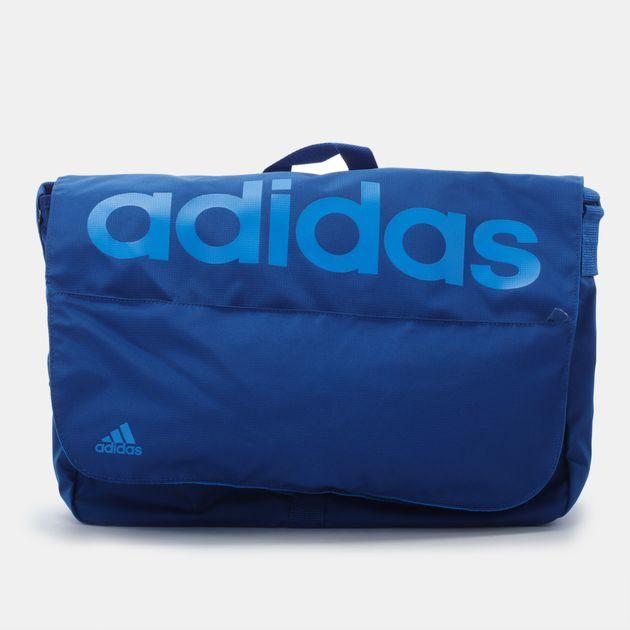 Shop Blue adidas Linear Performance Messenger Bag for Unisex by ... 4b9839e2bf325
