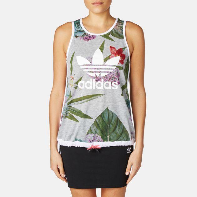 adidas Train Floral Tank Top