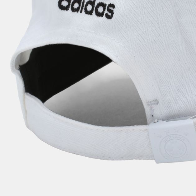 Shop White adidas DFB Germany 3 Stripes Cap for Unisex by