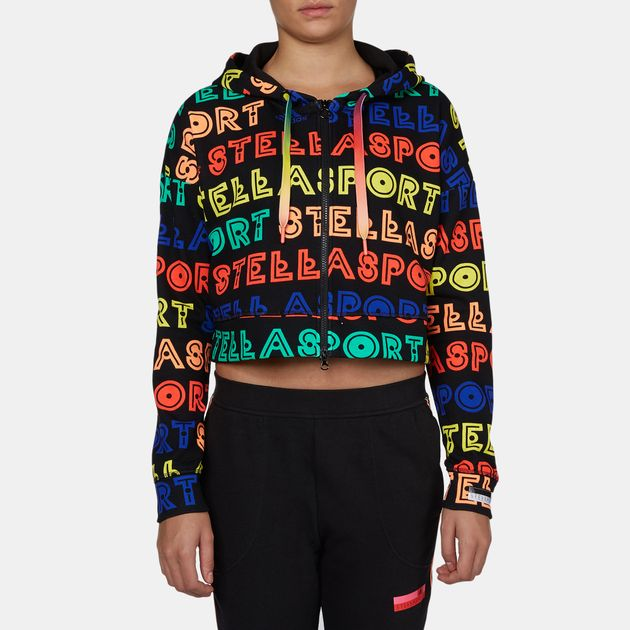 adidas STELLASPORT Collection All Over Print Full Zip Hoodie