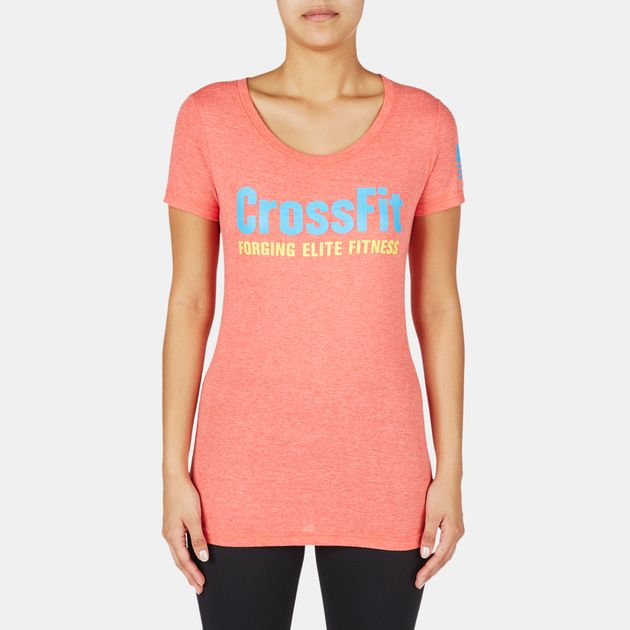 Reebok CrossFit Graphic Forging Elite Fitness Crew T-Shirt