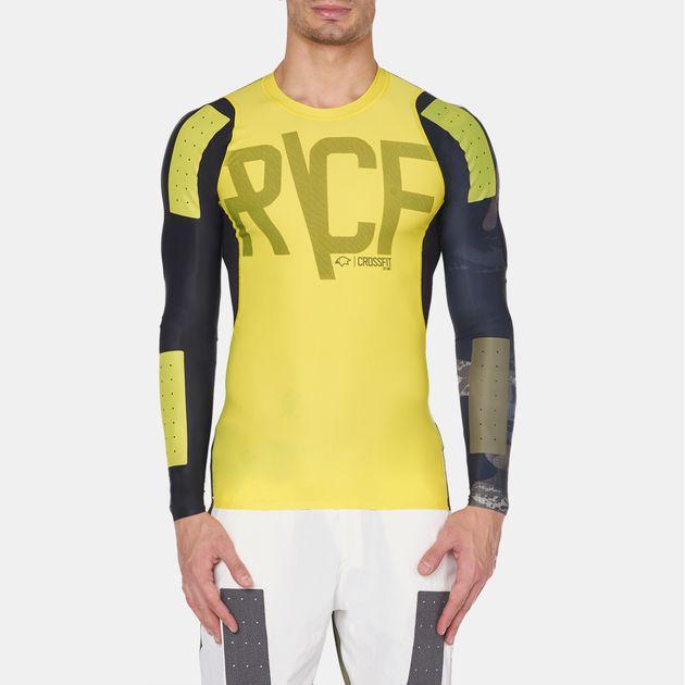 fdfe644a255c Shop Green Reebok CrossFit Long Sleeve Compression T-Shirt for Mens ...