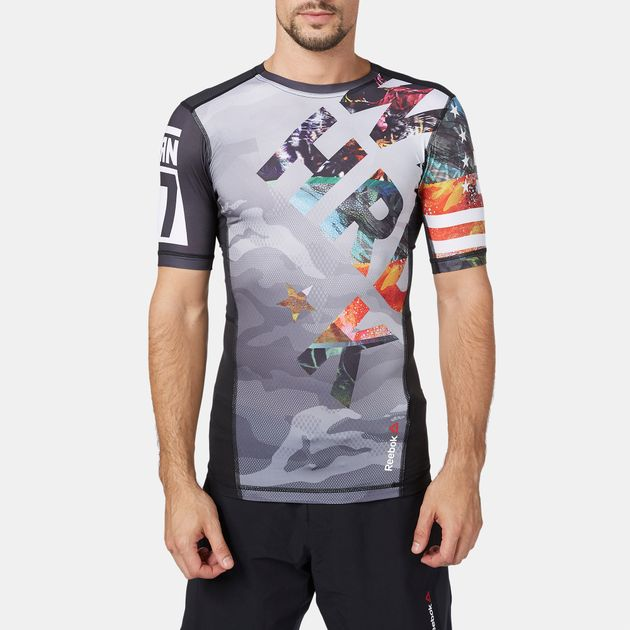 Reebok OS Power Short Sleeve Compression T-Shirt