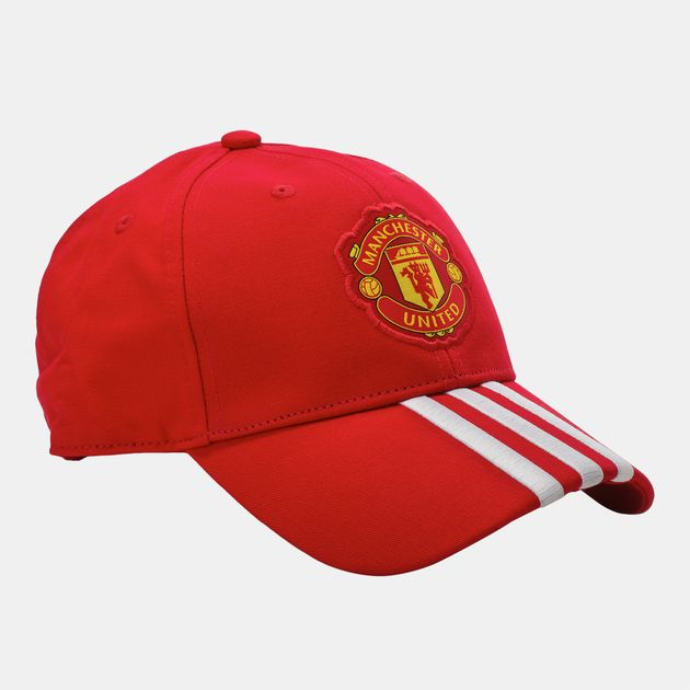 Shop Red adidas Manchester United 3 Stripes Cap for Unisex by adidas ... 78e6d47c6cf