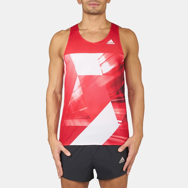 f90893d7 Shop Red adidas Adizero Singlet Tank-Top for Mens by adidas   SSS