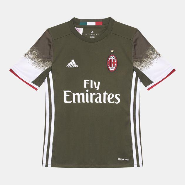 buy online e9e82 ebeca Shop Green adidas Kids' AC Milan Replica Third Jersey for ...