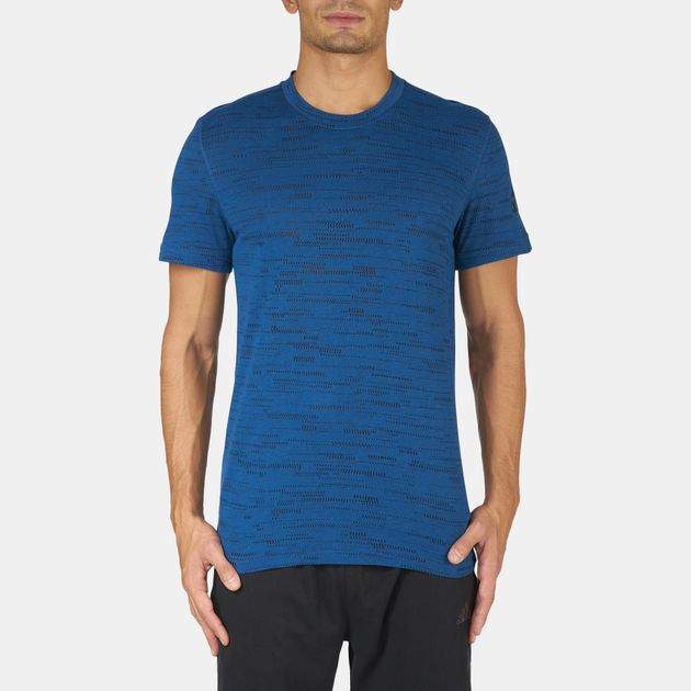 Shop Blue adidas Climacool Aeroknit T Shirt for Mens by