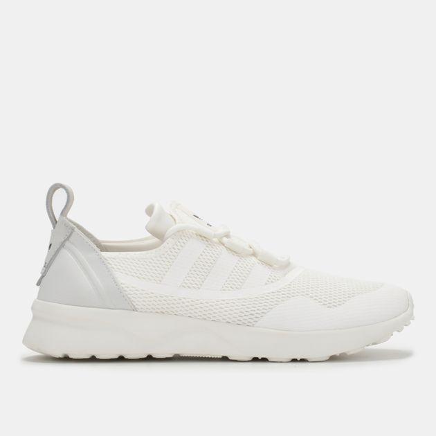 d0ca9fd152734 Shop White adidas Originals ZX Flux ADV Virtue Shoe for Womens by ...
