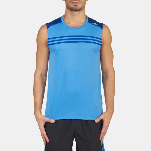 194ca84e Shop Blue adidas Response Sleeveless Running T-Shirt for Mens by ...