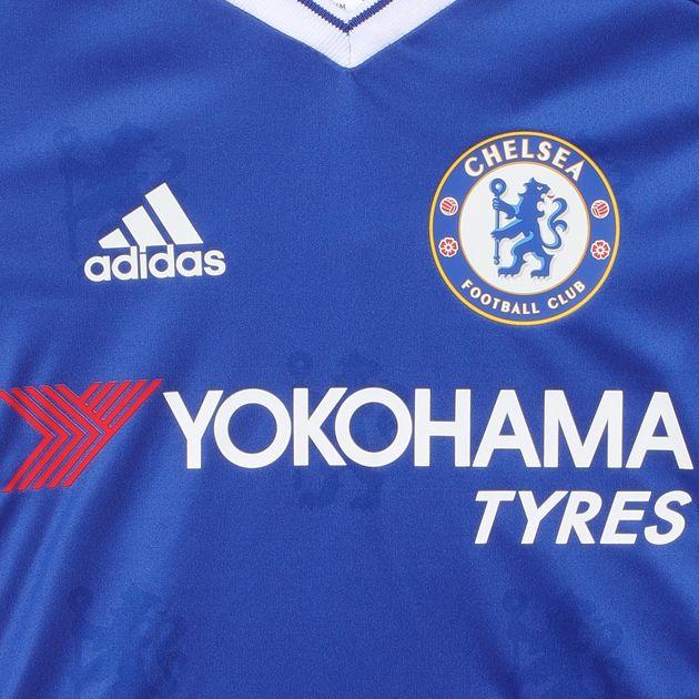 best website 336a3 bdc4a Shop Blue Shop Blue adidas Kids' Chelsea FC Home Football ...