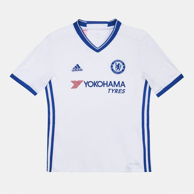 low priced 53389 a34ff Shop White adidas Kids' Chelsea Football Club Jersey for ...