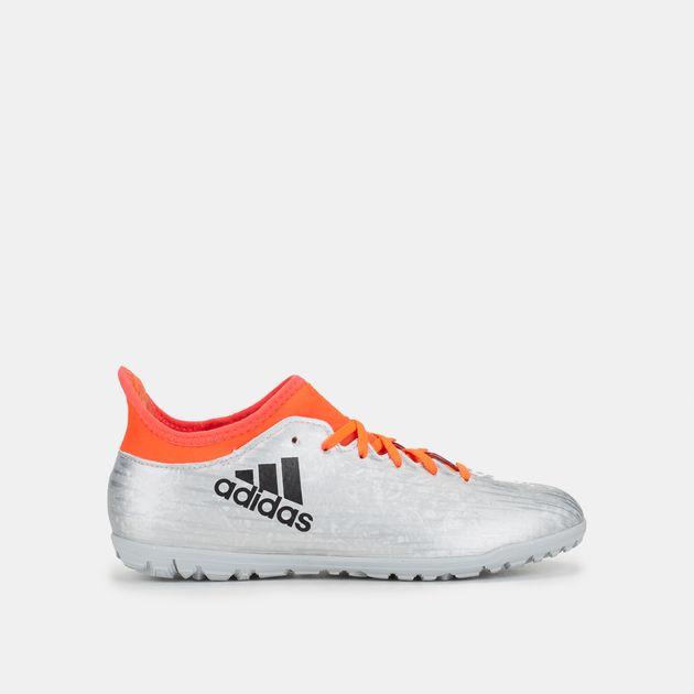 8aa812cea Shop Metallic adidas Kids' X 16.3 Turf Football Shoe for Kids by ...