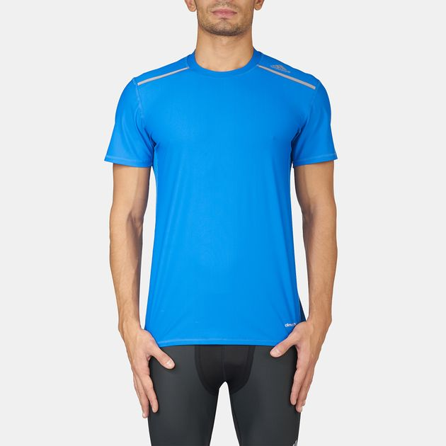 968a7f59f7069 Shop Blue adidas TechFit® Chill Fitted T-Shirt for Mens by adidas