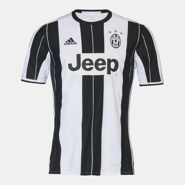 brand new e5d67 1ed01 Shop White adidas Juventus Home Replica Jersey for Mens by ...