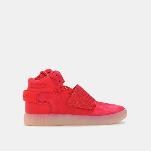 0b31a781e3fa Shop Red adidas Originals Kids  Tubular Invader Strap Shoe for Kids ...
