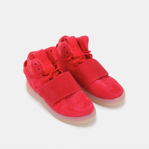watch 20b3c 5330a Shop Red adidas Originals Kids' Tubular Invader Strap Shoe ...