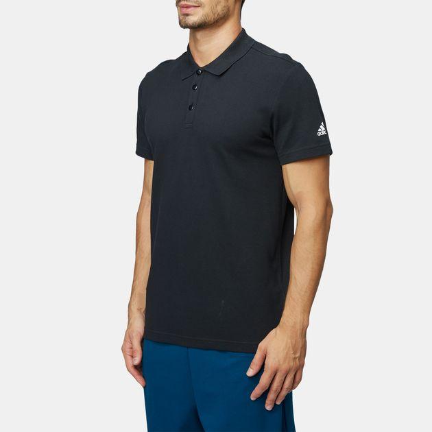 1d4b2ef31 Shop Black adidas Essentials Base Polo T-Shirt for Mens by adidas   SSS