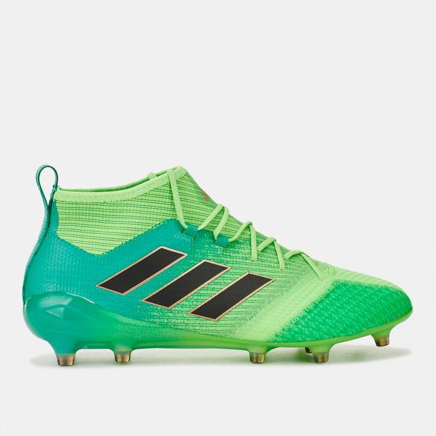 cheaper 1b3e0 579ac Shop Green adidas Ace 17.1 Primeknit Firm Ground Football ...