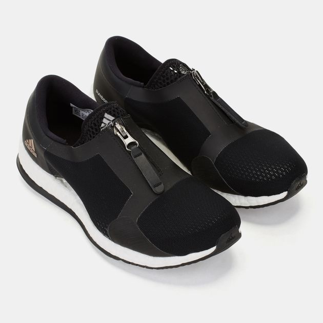 new arrival 74ba6 7bd97 Shop Black Pure Boost X Trainer Zip Shoe for Womens by ...