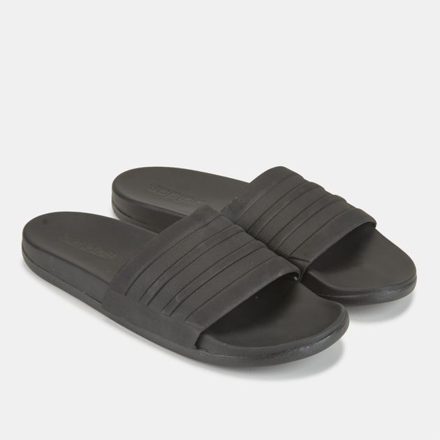 f88f94094 Shop Black adidas Adilette Cloudfoam Plus Mono Slides | Slides ...
