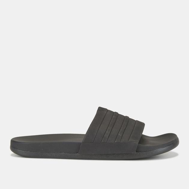 14f232f21dc6 Shop Black adidas Adilette Cloudfoam Plus Mono Slides