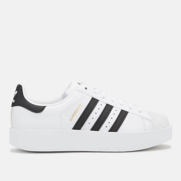 b940fe077f5d Shop White adidas Originals Superstar Bold Platform Shoe for Womens ...