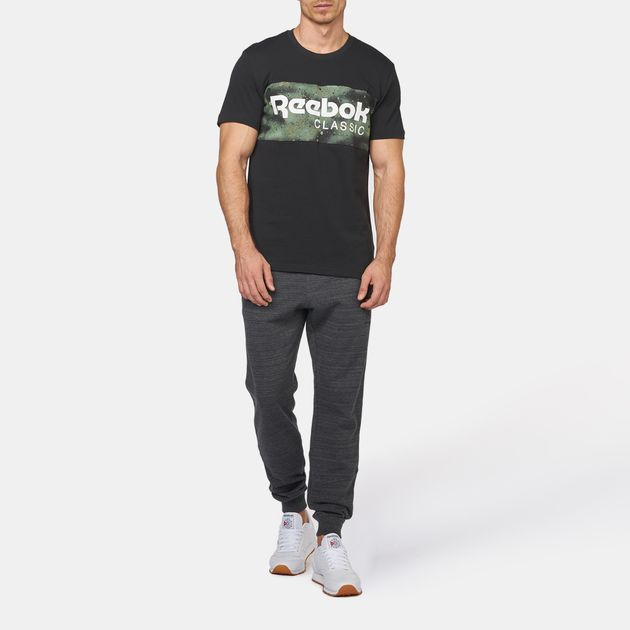 c023c431e Shop Black Reebok Spray Camo Archive T-Shirt for Mens by Reebok | SSS