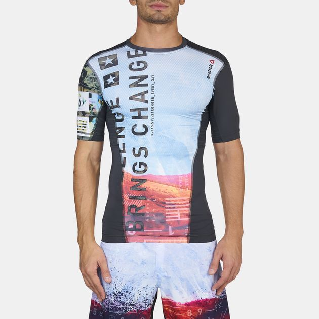 Reebok One Series Activchill Sublimated Compression T-Shirt