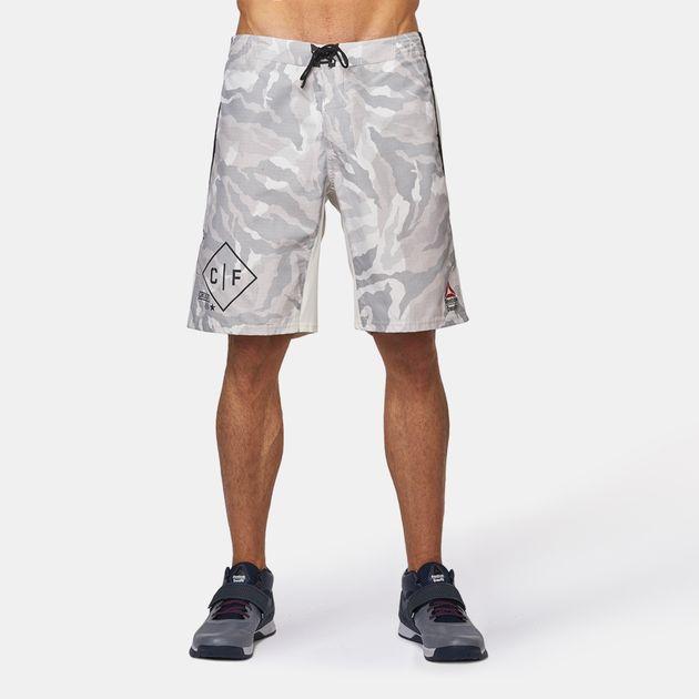 cee879ab53f Shop White Reebok Crossfit Super Nasty Tactical Camo Board Shorts ...
