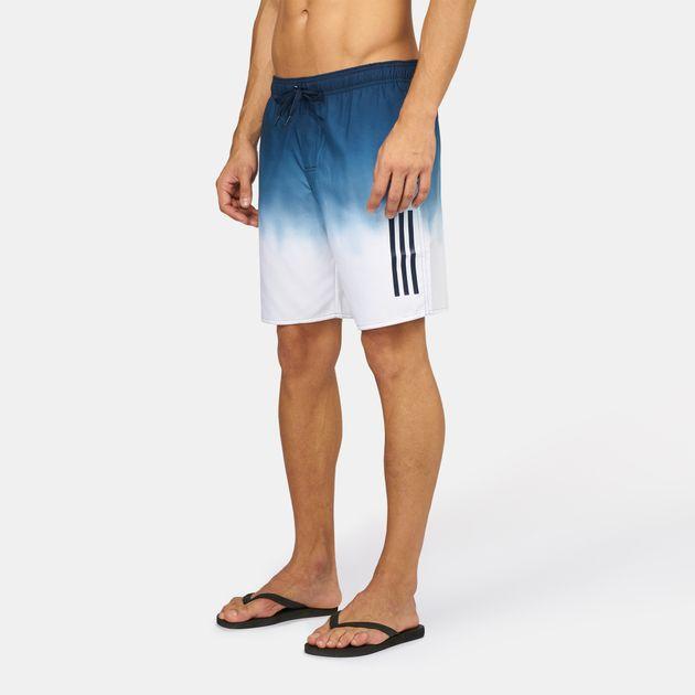a7a41fd74e Shop White adidas 3-Stripes Graphic Beach Shorts for Mens by adidas ...