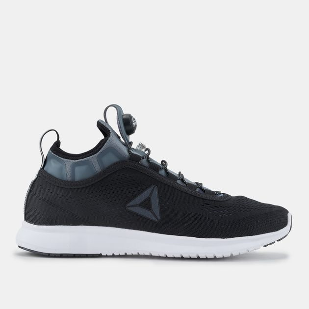 bcaaff31791d32 Shop Black Reebok Pump Plus Tech Running Shoe for Womens by Reebok