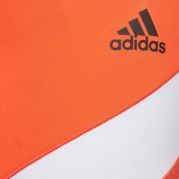 9ad2d5ee2da2f Shop Orange adidas Wow Drop 4 Leggings for Womens by adidas | SSS