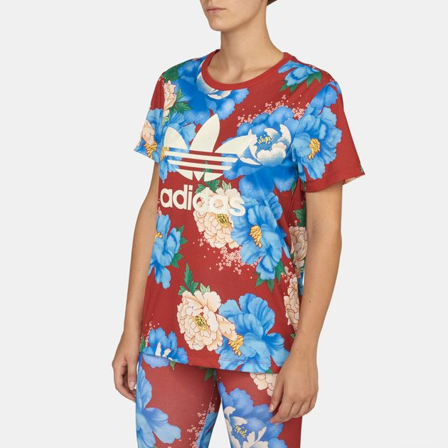 Adidas Originals Blue Chita Floral Print Shorts