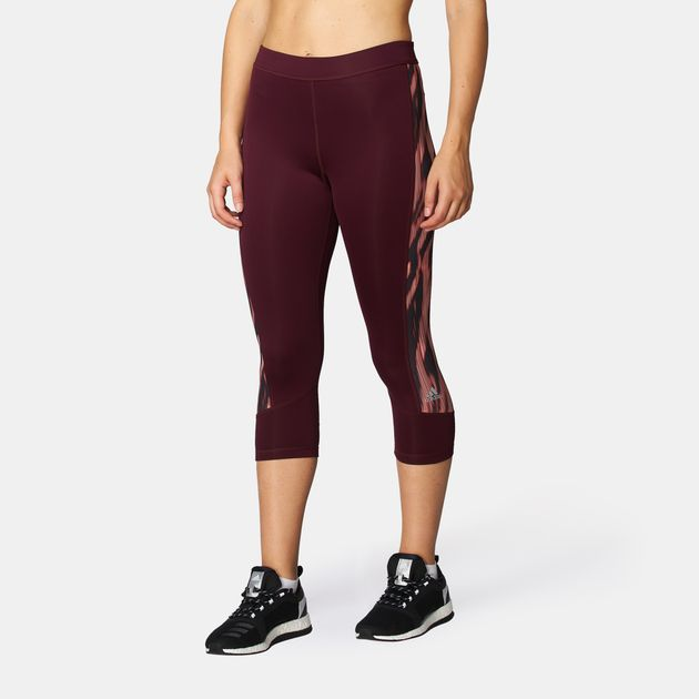 fb4969aa25923 Shop Red adidas Techfit Capri Leggings for Womens by adidas | SSS