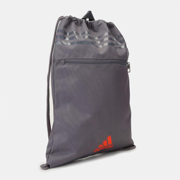 c3990958a633 Shop Grey adidas 3 Stripes Performance Gym Bag for Unisex by adidas ...