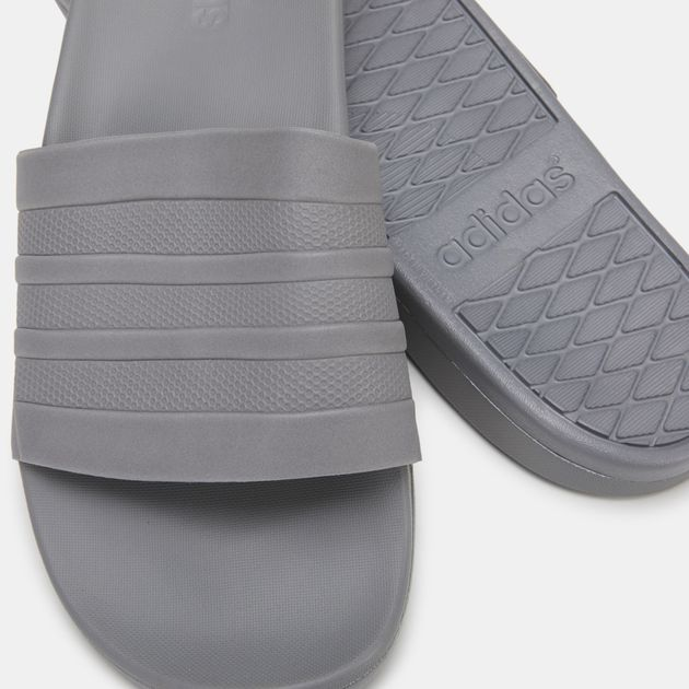 dcb4a8c547e6 Shop Grey adidas Adilette Cloudfoam Plus Mono Slides