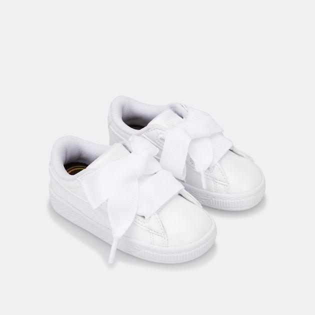 online retailer 934bd da0a8 PUMA Kids' Basket Heart Patent Shoe (Baby and Toddler ...