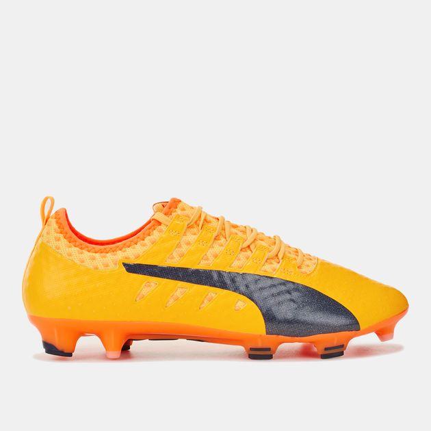 52086bbad8ef Shop Yellow PUMA evoPOWER Vigor 1 Firm Ground Football Shoe for Mens ...