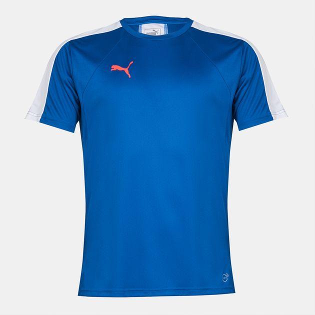 239c06c21c2 Shop Blue PUMA evoTRG Football Training T-Shirt for Mens by PUMA | SSS