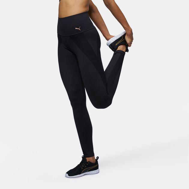 12df362e5d55a Shop Black PUMA Kylie Jenner Velvet Rope PWRShape Leggings for ...