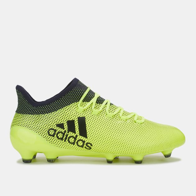 338a7ac198d Shop Yellow adidas X 17.1 Firm Ground Football Shoe for Mens by ...