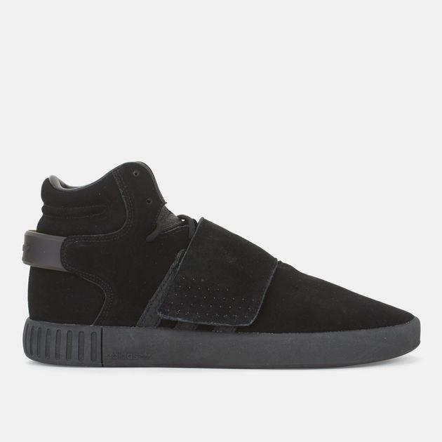 ae038f2d7b7d Shop Black adidas Originals Tubular Invader Strap Shoe for Mens by ...