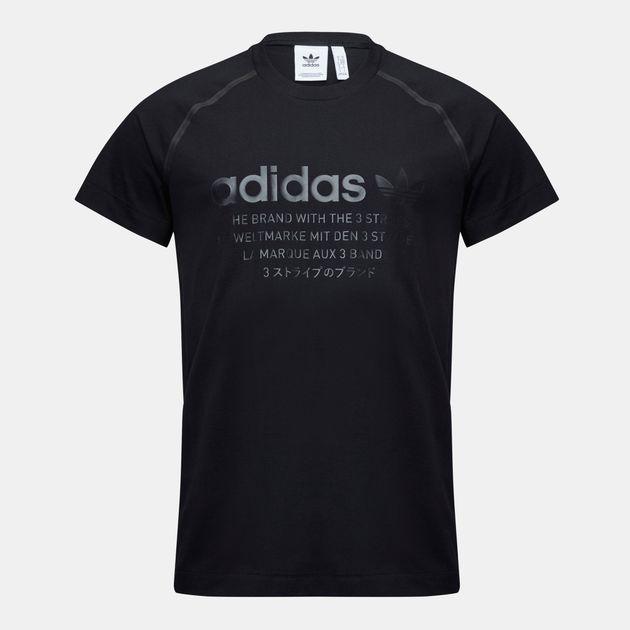 30e62c15671fa Shop Black adidas Originals NMD T-Shirt for Mens by adidas Originals ...