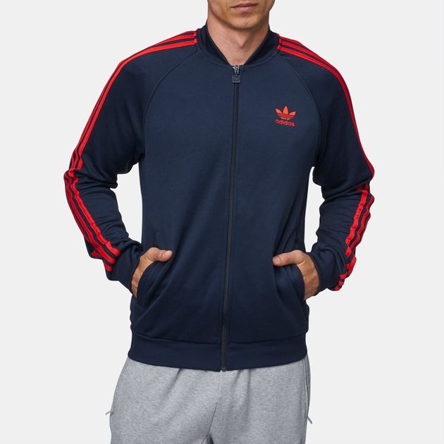 Shop Blue Adidas Originals Sst Track Jacket For Mens By Adidas