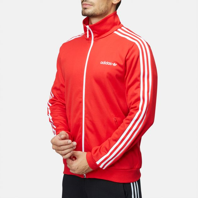 Shop Red adidas Beckenbauer Track Jacket for Mens by adidas ... b08a2906a