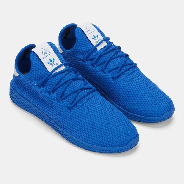 premium selection 9545a 4eb88 Shop Blue adidas Originals Pharrell Williams Tennis HU Shoe for Mens ...