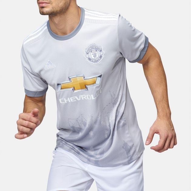 best website e62d0 42c6d Shop White adidas 2017/18 Manchester United Replica Third ...